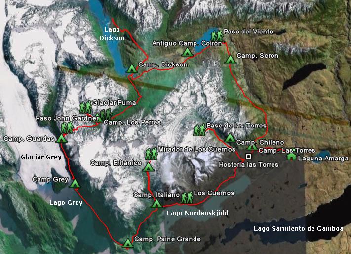 Circuito O Torres Del Paine : Torres del paine circuito quot o macizo