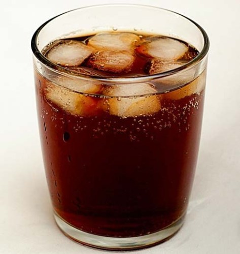 Soft drink Cola with ice