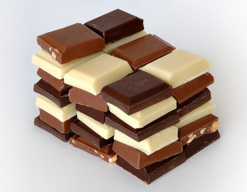 Variety of chocolates