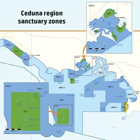 Ceduna marine sanctuary zones