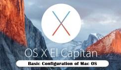 Basic Configuration of Mac OS