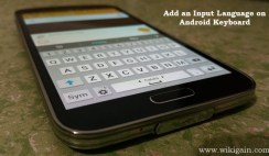 Add an Input Language on Android Keyboard