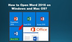 Open Word 2016 on Windows and Mac