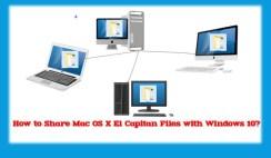 Share Mac OS X El Capitan Files