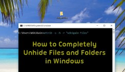 Completely Unhide Files and Folders in Windows