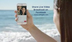 Share Live Video Broadcast on Facebook