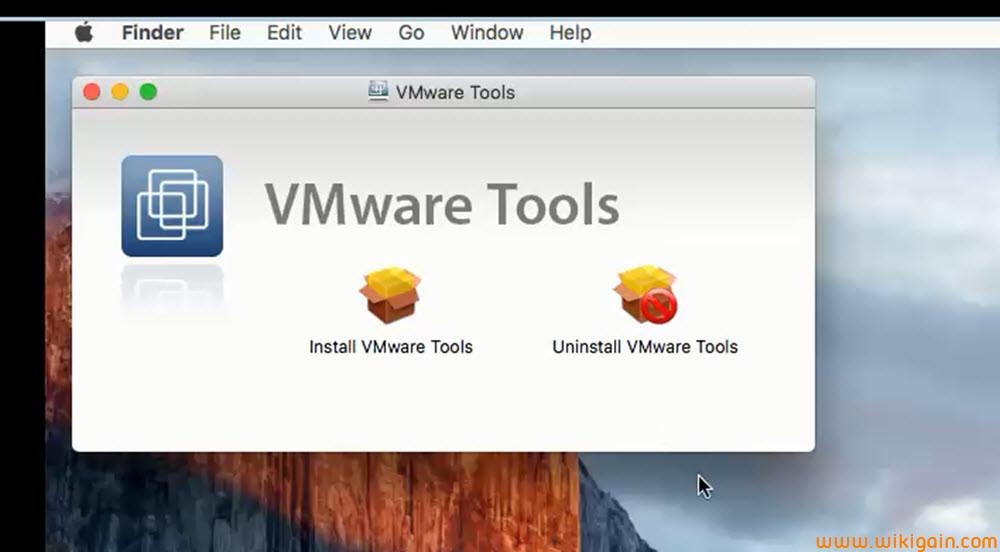 mac os x vmware tools