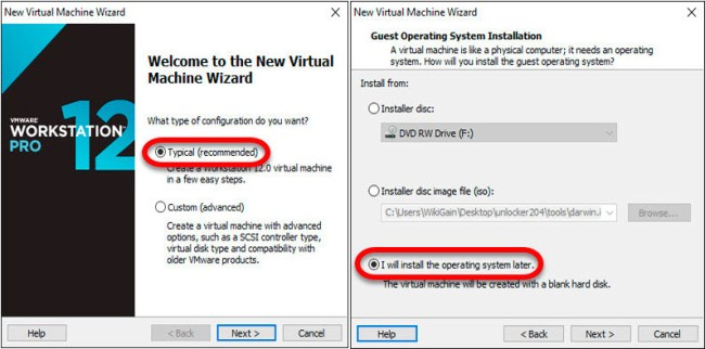 How to install macos sierra on VMware
