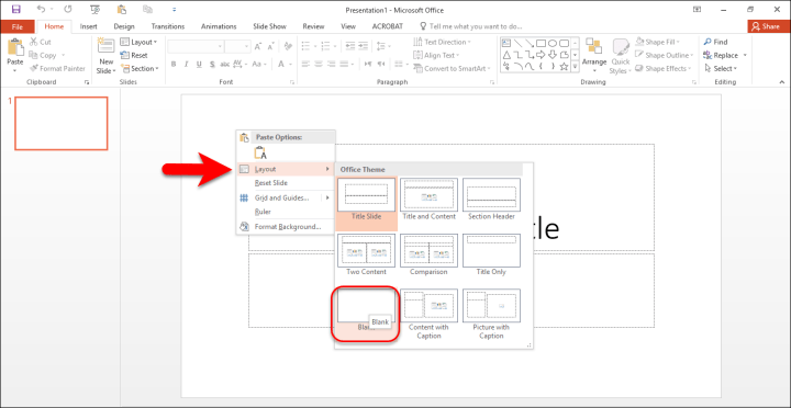 How to design custom slide in PowerPoint?
