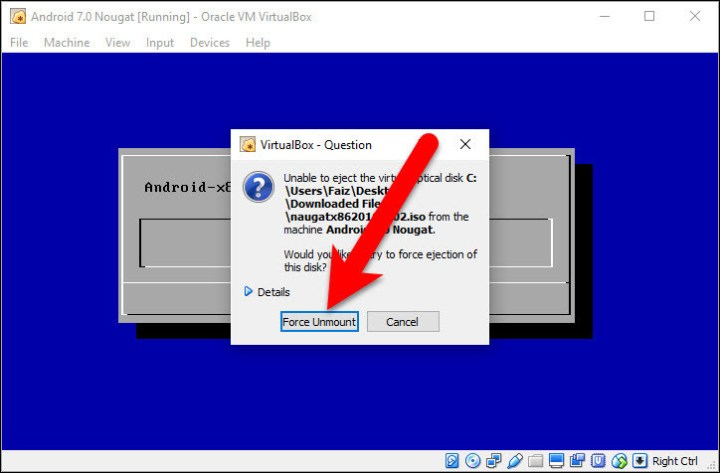 Install Android 7.0 Nougat on Virtual Machine Hard Disk