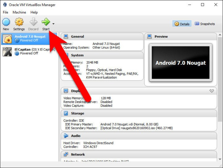 Play Android 7.0 Nougat Virtual Machine