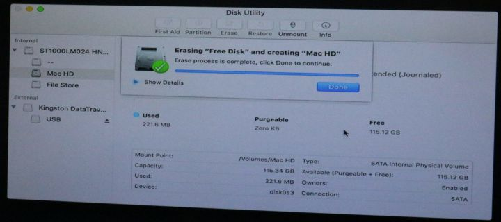 "Fix ""Erase Process has Failed"" While Erasing Partition for Mac OS on Disk Utility"