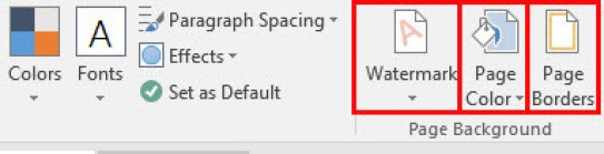 how to design page background in microsoft word 2016