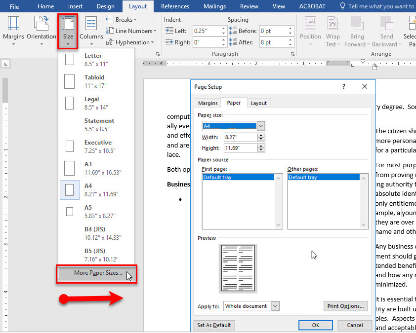how to add columns in microsoft word 2016