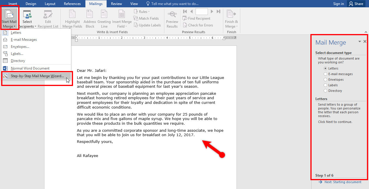 Use Mail MergeCreateSend Envelopes In Microsoft Word   Wikigain