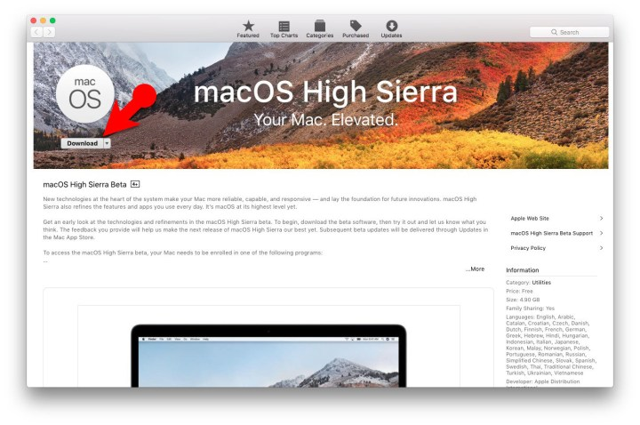 Download macOS High Sierra Free