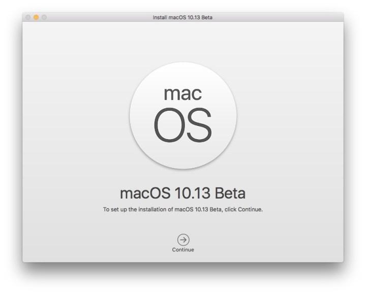 macOS High Sierra 10.13 Beta