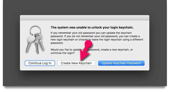 create new system keychain