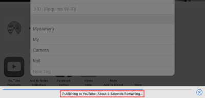 Upload video directly from iPhone to YouTube