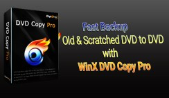 How to Fast Backup Your Old/Scratched DVD to DVD with WinX DVD Copy Pro?