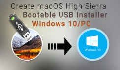 How to Create macOS High Sierra Bootable USB Installer on Windows 10