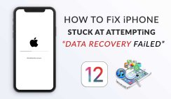 "How to Fix iPhone Stuck At ""Attempting Data Recovery Failed"""
