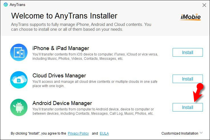 anytrans pc android