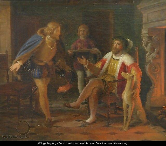 Mogens Munk Delivering Letter of Resignation to Christian II - Constantin Hansen