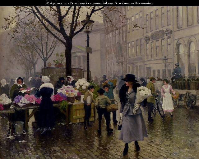 Fischer Gustave The Flower Market Copenhagen - Fisher Paul