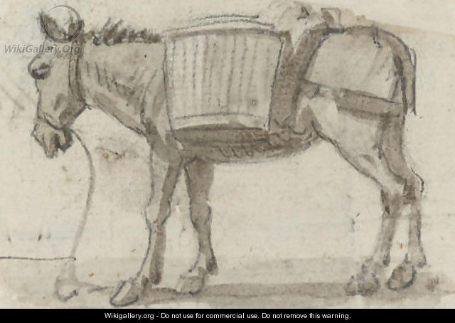 Study of a donkey - Paul Sandby