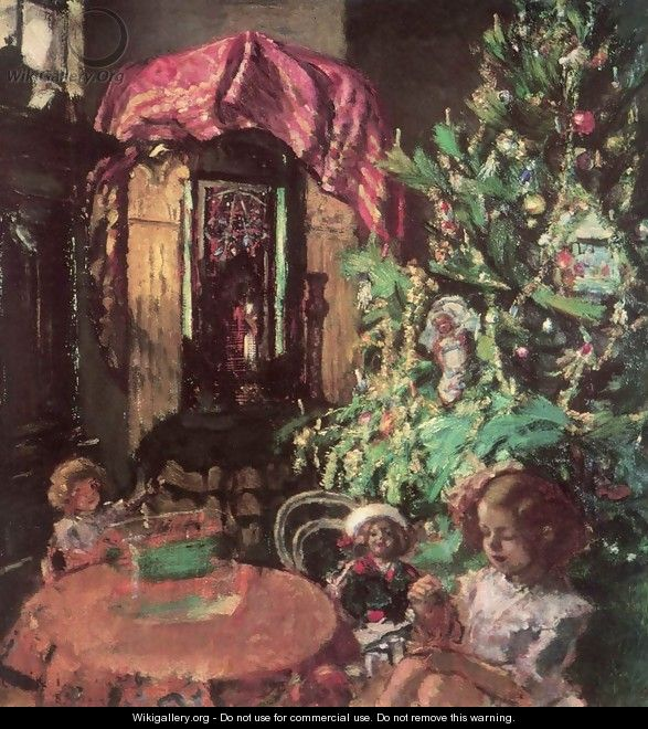 Zuzu under the Christmas Tree 1914 - Istvan Csok