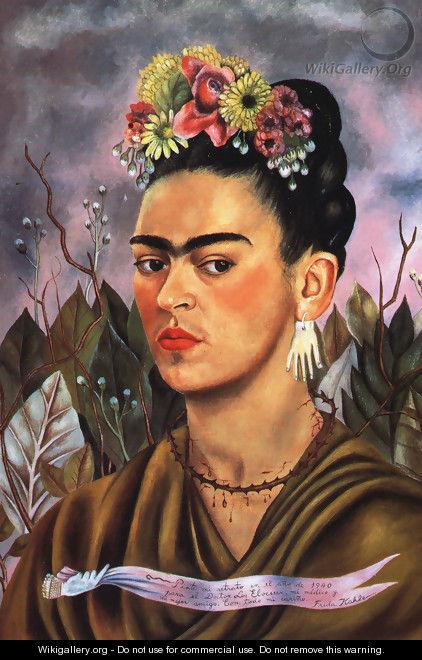 Self Portrait Dedicated To Dr Eloesser 1940 - Frida Kahlo