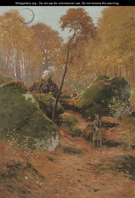 The elderly woodcutter - Charles Edward Halle