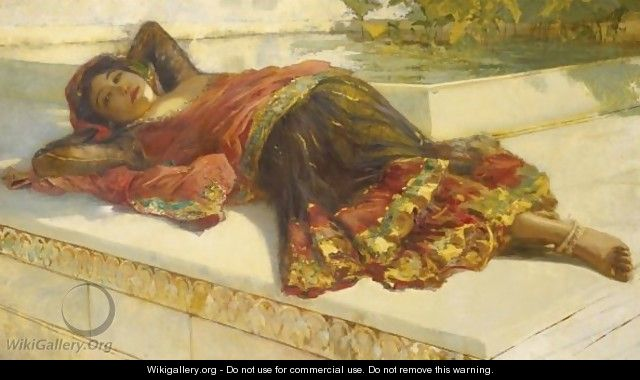 Nautch Girl Resting - Edwin Lord Weeks
