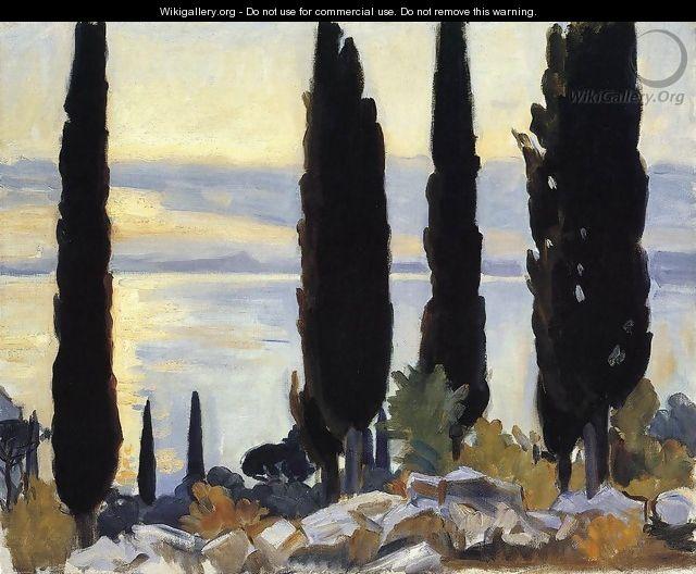 Cypress Trees At San Vigilio - John Singer Sargent