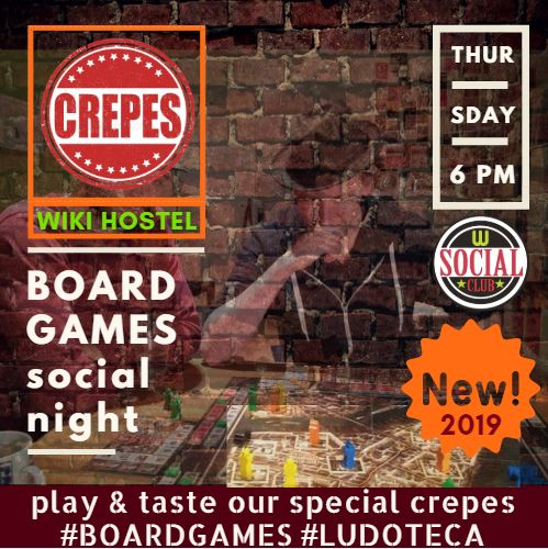 WIKI HOSTEL BOARD GAMES CREPERIE