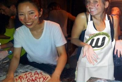 WIKI HOSTEL PIZZA PARTY girls