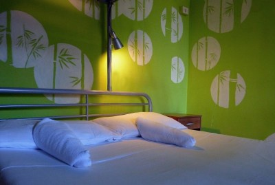 WIKI HOSTEL PRIVATE ROOM green double bed
