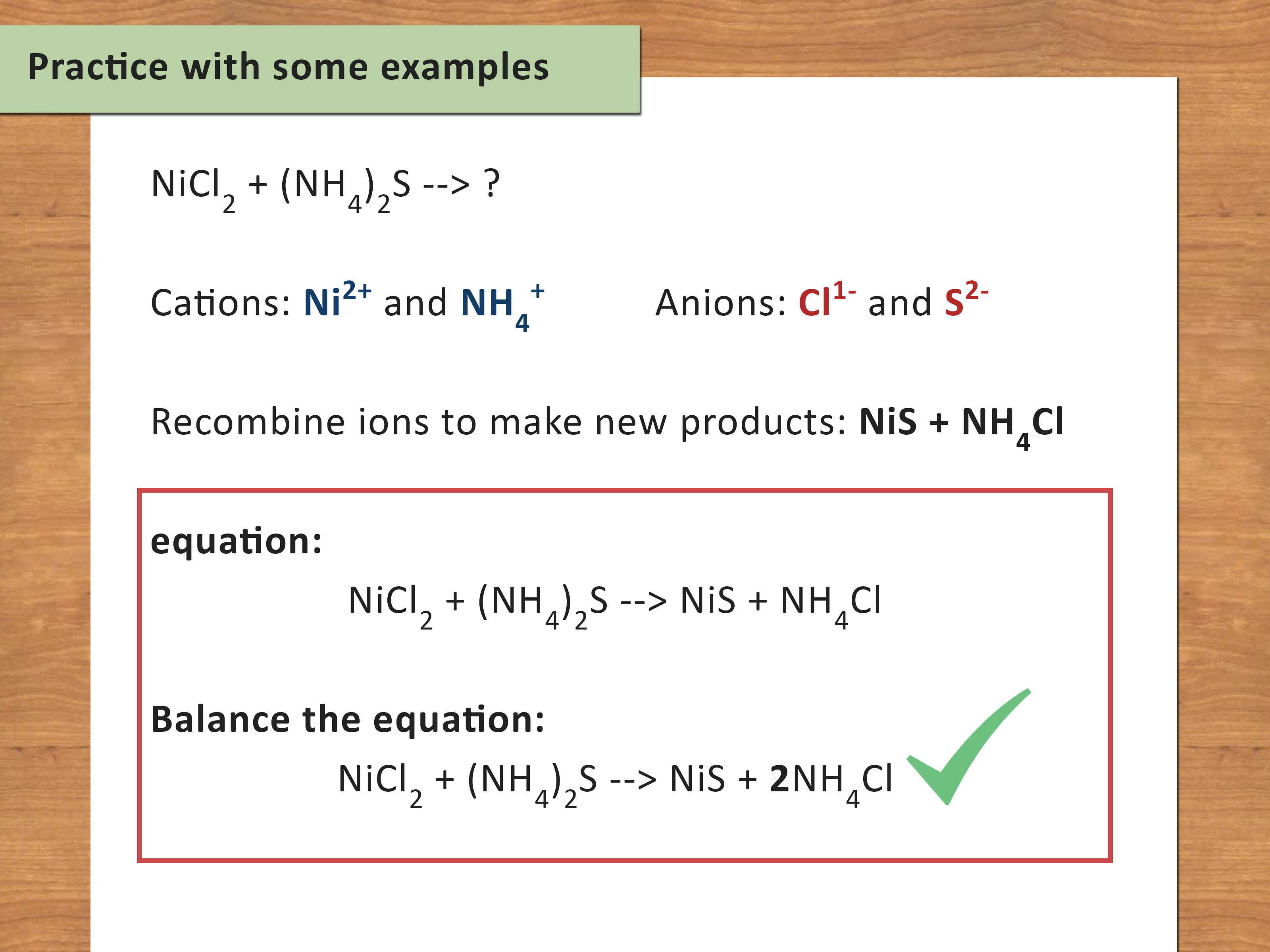 Amazing The Best Way To Write A Chemical Equation Wikihow
