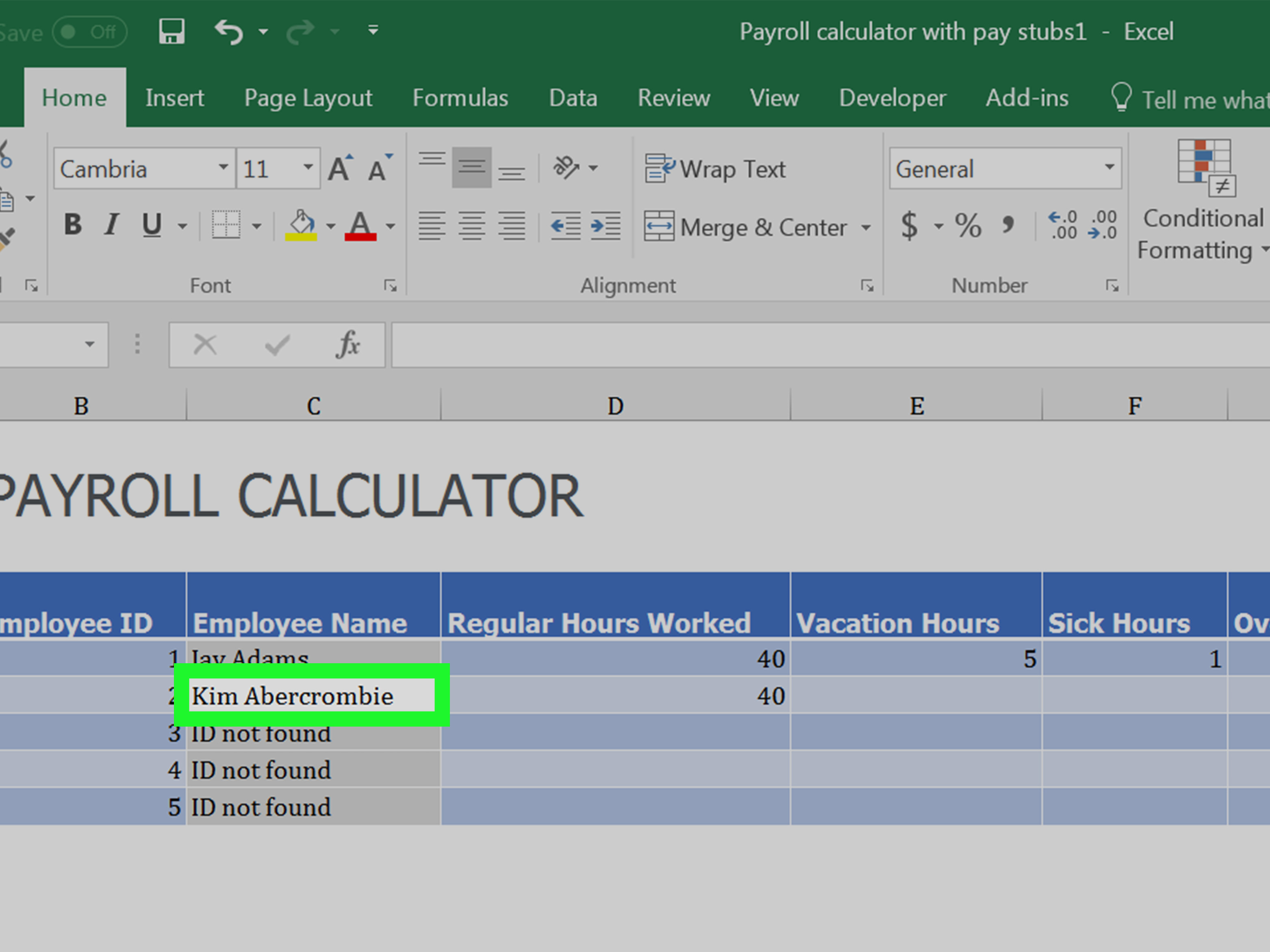 How To Prepare Payroll In Excel With Pictures