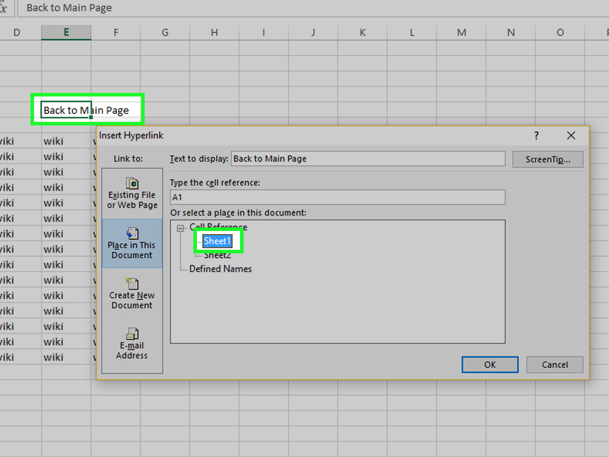 How To Create A Table Of Contents In Ms Excel 7 Steps