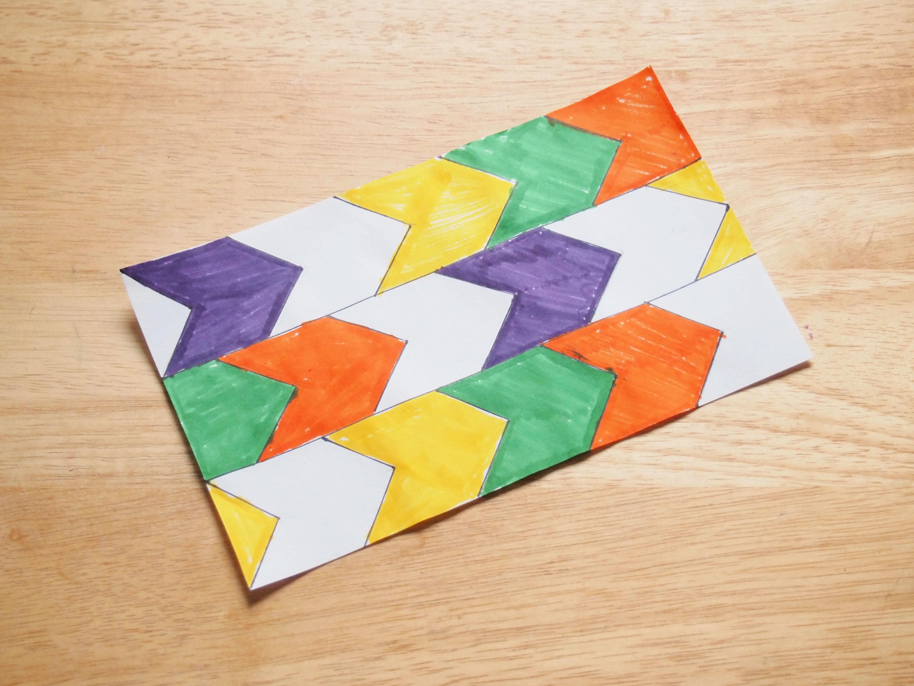 How To Make A Translation Tessellation 8 Steps With