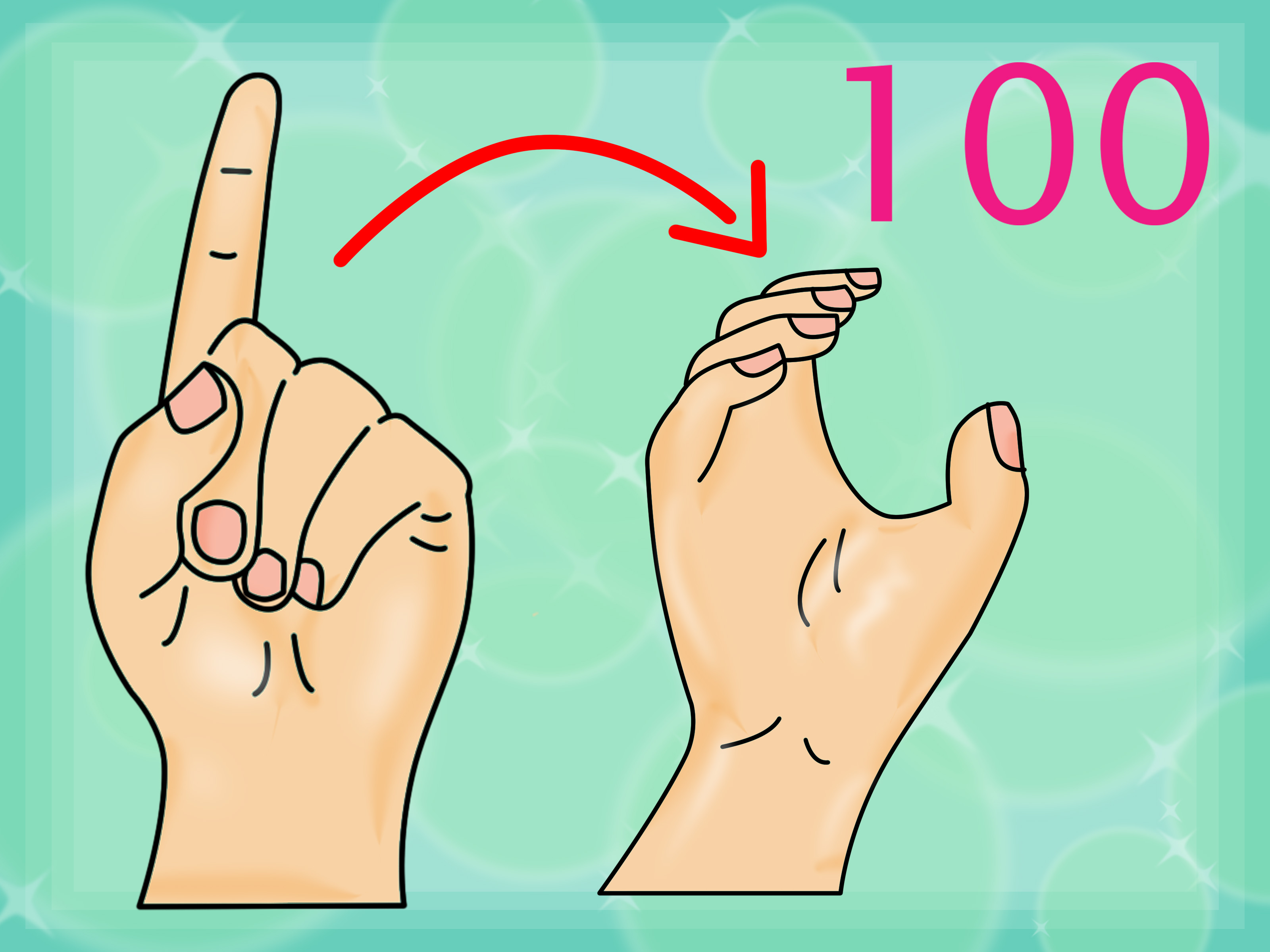 How To Count To 100 In American Sign Language 13 Steps