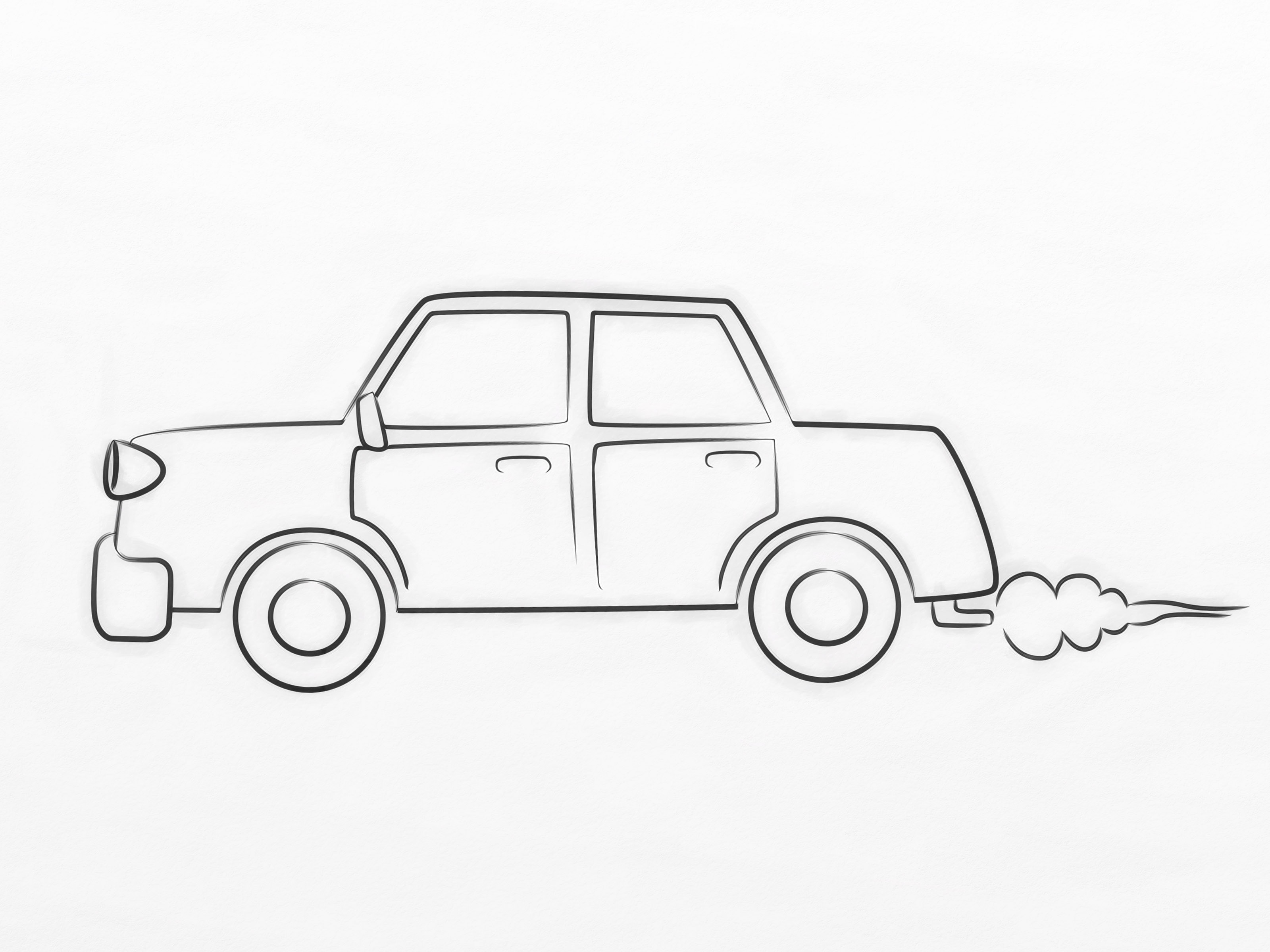 How To Draw A Cartoon Car 8 Steps With Pictures