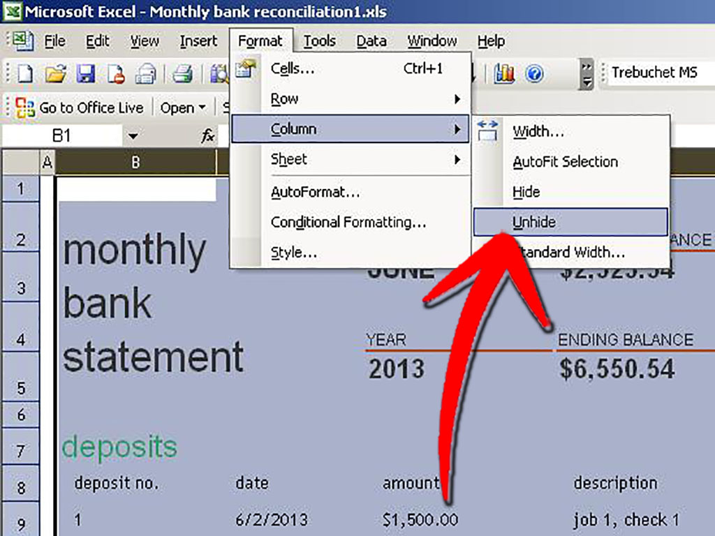 Program Cells In Excel