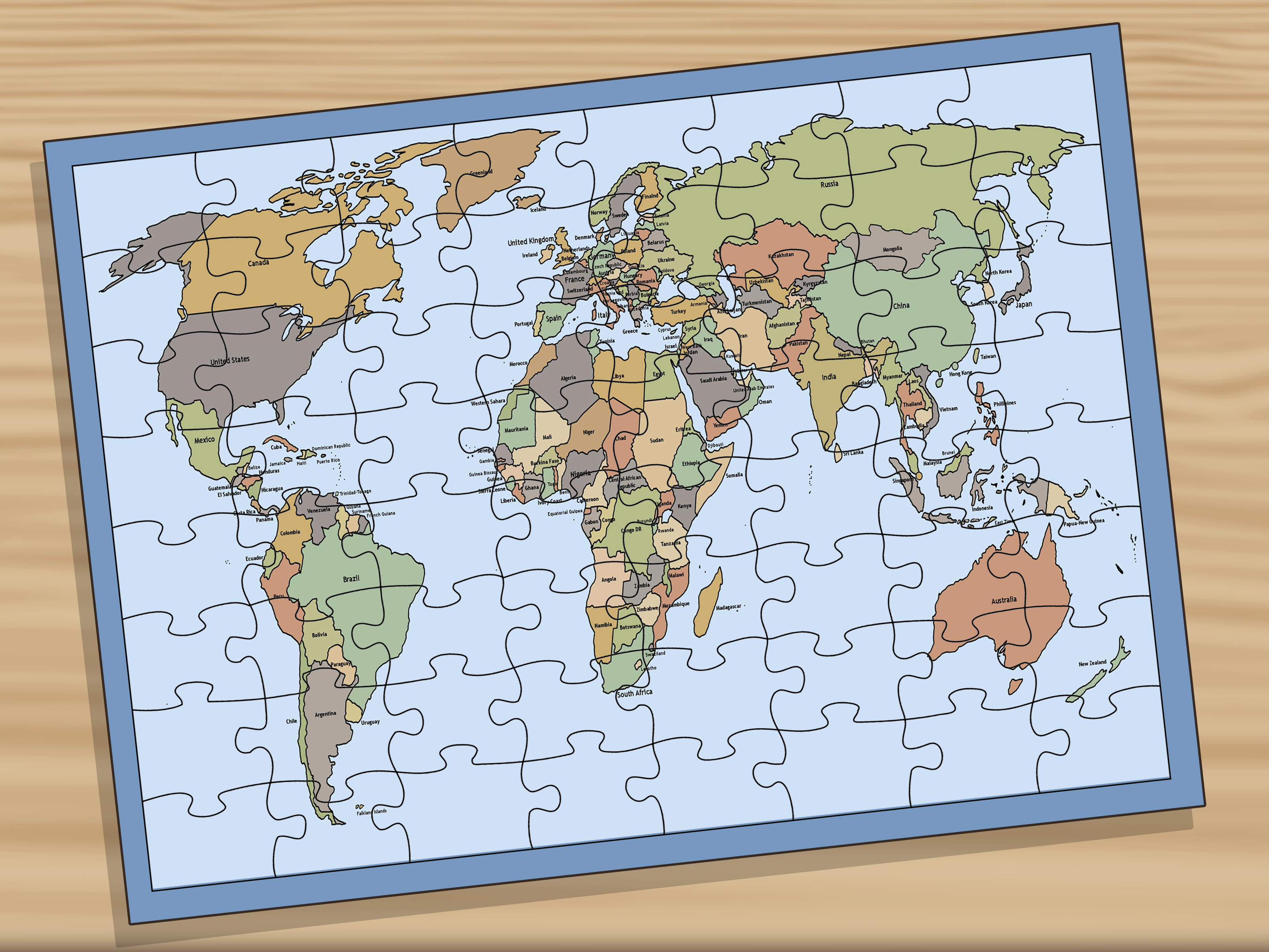 3 Ways To Memorise The Locations Of Countries On A World Map