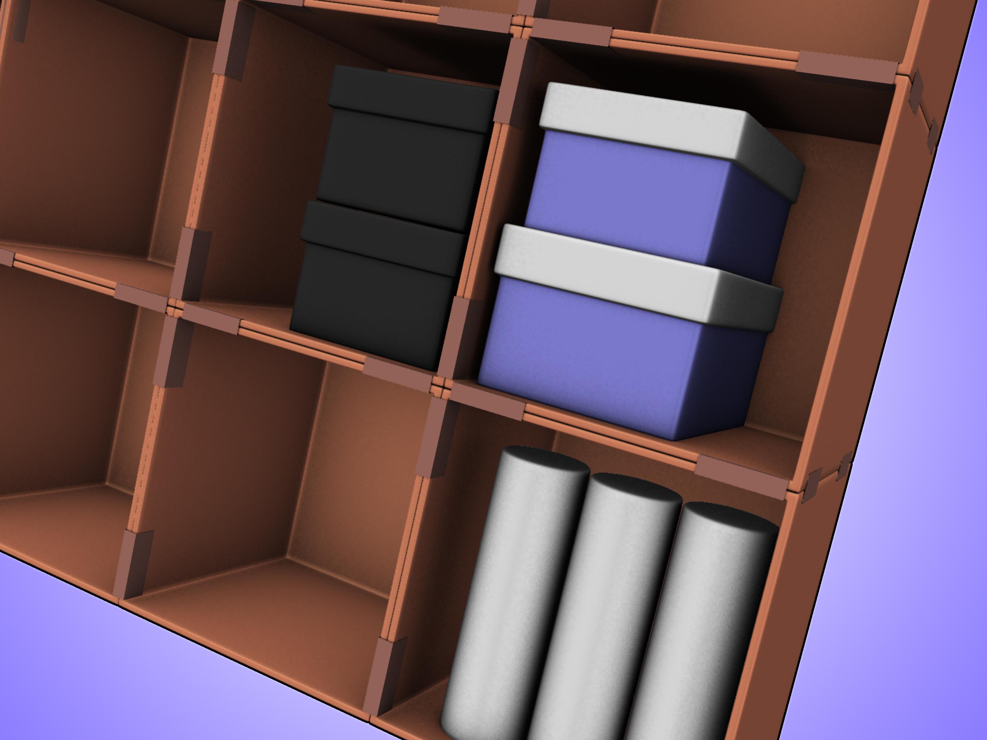 how to make a cardboard box storage system: 4 steps