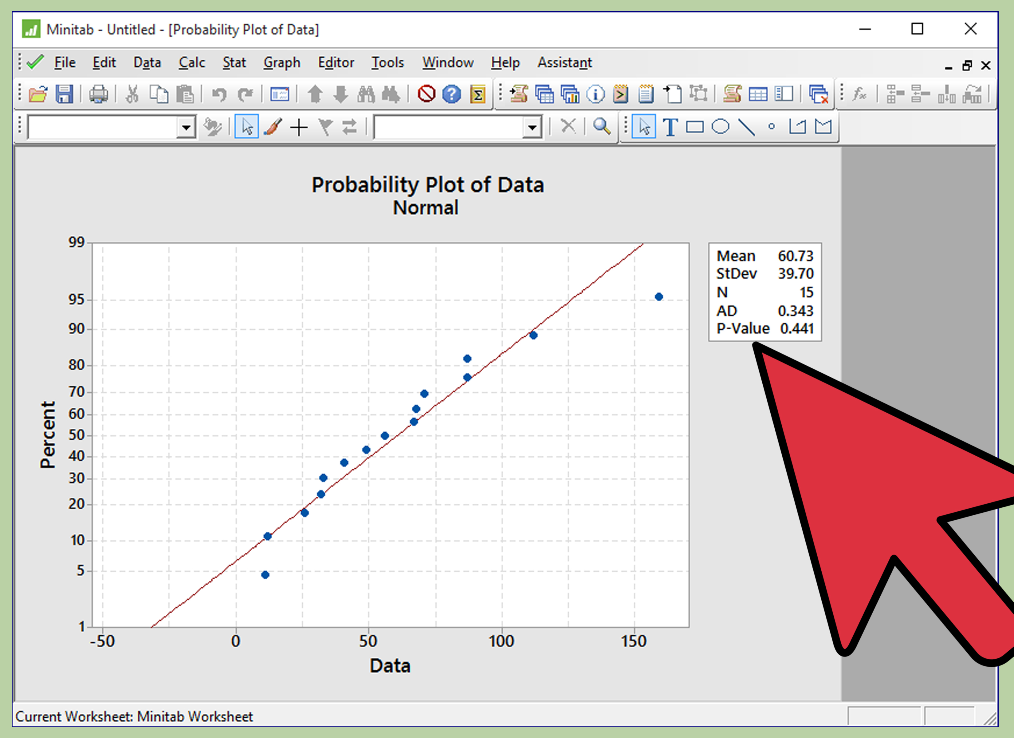 How To Perform A Normality Test On Minitab 12 Steps