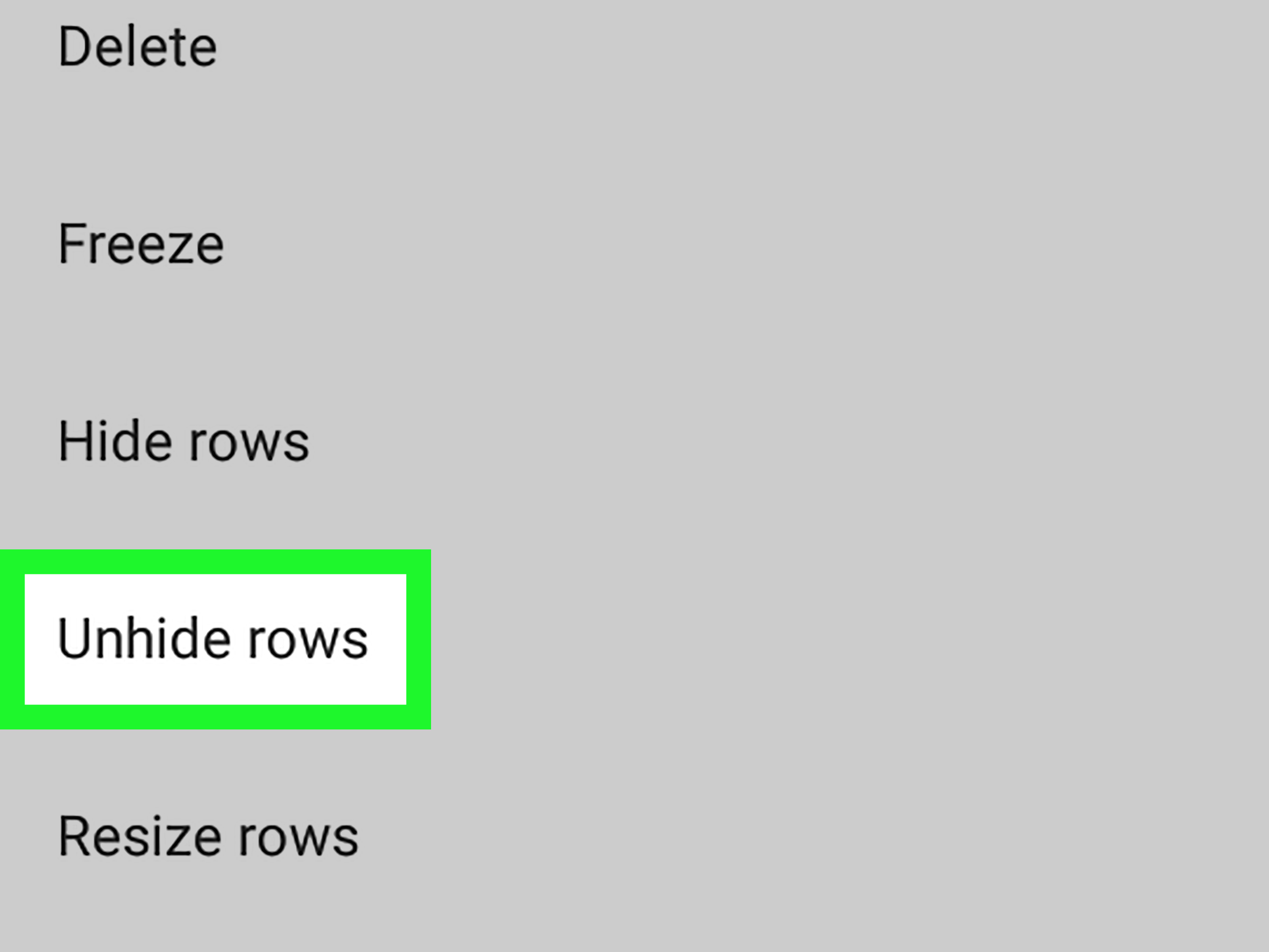 How To Unhide Rows On Sheets On Android 7 Steps