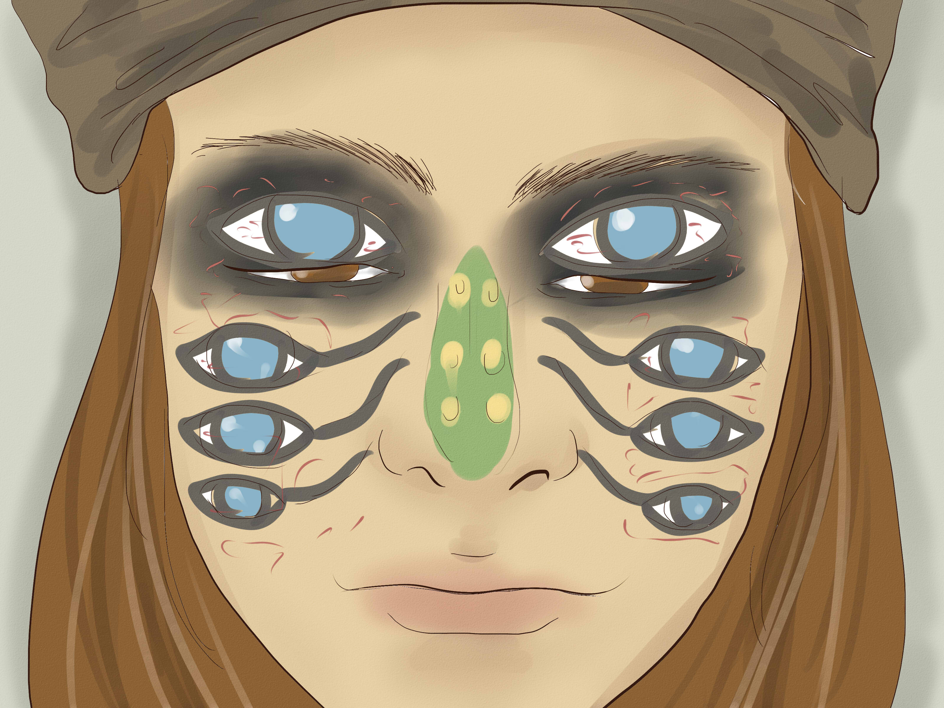 How To Create Jack Sparrow Tribal Scene Eyeballs 15 Steps